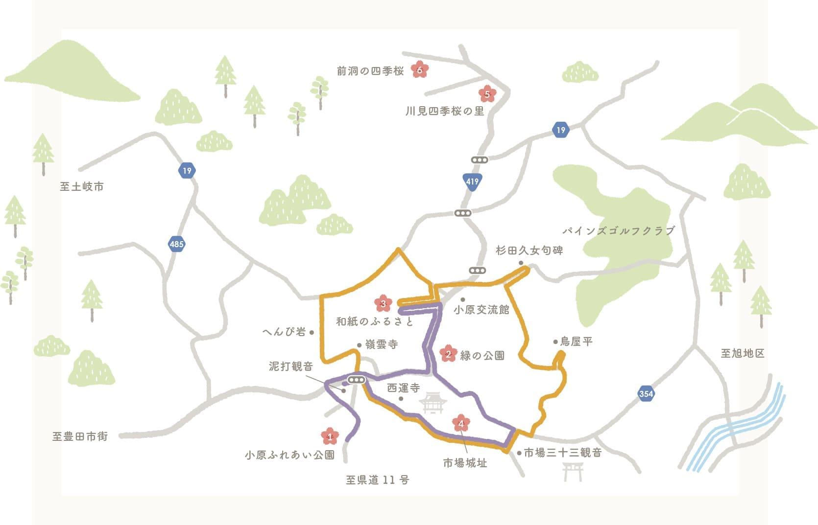 四季桜map